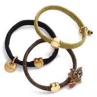 MARC JACOBS Owl Charm Ponytail Holders (Set of 3) | Nordstrom