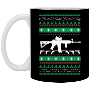 AR-15 Machine Gun Ugly Christmas Sweater