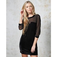 Hearts and Bows Morticia Velvet Dress