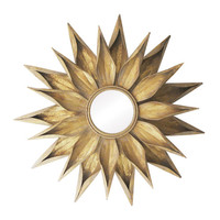 Metal Sunflower Wall Mirror