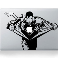 Superman-Mac decals Macbook sticker Macbook pro decal Macbook air decal Aappl decal sticker