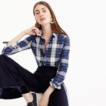 Perfect shirt in navy plaid