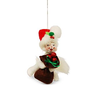Annalee Dolls 2017 Christmas 3in Winter Berry Kitty Ornament New with Box