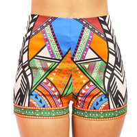 Geometric Hue High Waist Shorts | Cute Clothes at Pinkice.com
