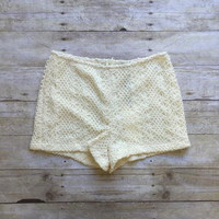 Sunbathe Crochet Shorts-Off White