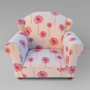 Funky Kids by Mauricio's Furniture - Children's Pink Dandelion Wingback Chair