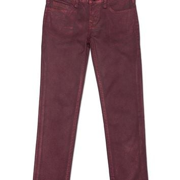 True Religion Casey Super Skinny Metallic Jean - Flame