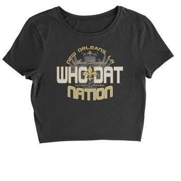 Who Dat Nation New Orleans (Color) Cropped T-Shirt