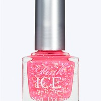 Pink Ice Nail Polish - Think Pink Sparkle