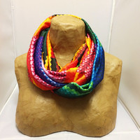 Rainbow Circle Scarf - Color Fields Infinity Scarf