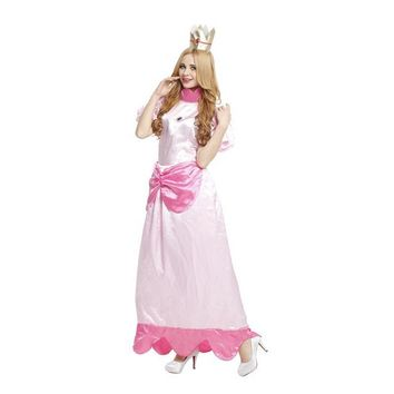 Super Mario party nes switch Pink Princess Peach Cosplay Fantasia Woman Halloween  Costumes Purim Carnival Stage performance Rave party dress AT_80_8