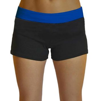 Summer Womens Casual Running Yoga Sports Shorts Gym Workout Waistband Hot Pants.