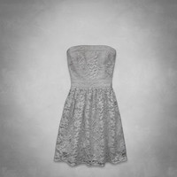 classic lace shine dress