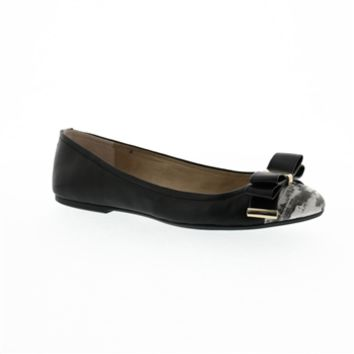 Jessica Simpson Marieta Bow and Snakeskin Flat at Von Maur