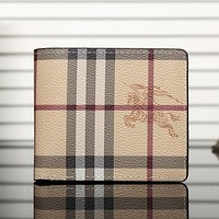 Burberry Men Leather Purse Wallet