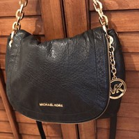 Michael Kors Black Leather Handbag Shoulder Bag