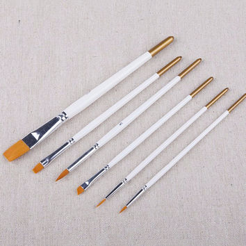 Professional 6pcs Paint Brushes for Artist Acrylic Oil Watercolors Paintings Children painting brush pencil set for Kids Gift