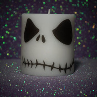 Nightmare Before Christmas Wedding 3 inch Pillar Candle various sizes available