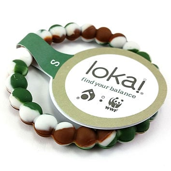 Lokai Bracelet Balance Camo White Blue Pink Black Purple Red Green Size S M L XL