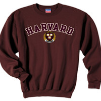 TheCoop Store - 50% cotton/50 poly Maroon crew sweatshirt with embroidered S to XXL - Sweatshirts