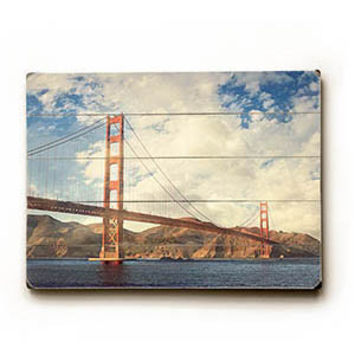Golden Gate Bridge by Artist Shannon Clark Wood Sign