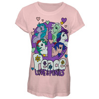 My Little Pony - Peace Love and Ponys Girls Juvy T-Shirt