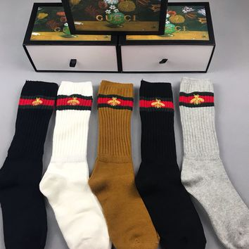GUCCI Socking Embroidered Socks with Box