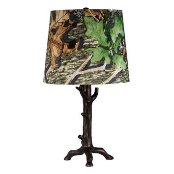Tree Lamp with Leaf Print Shade by LampStoreOriginals