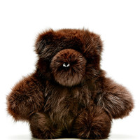 Helen Yarmak International Brown Fox Fur Teddy Bear Brown
