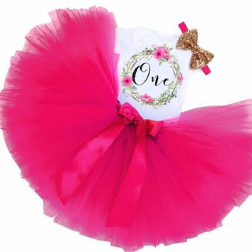 Newborn Tutu Cake Smash Outfits Dress 1 Year Baby Girl Birthday Party Dresses For Girl Clothes Fancy Baptism Kids Tulle Vestidos