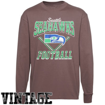 Seattle Seahawks Gridiron Vintage Long Sleeve T-Shirt - Gray