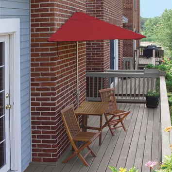 5-piece Furniture Set - Red Umbrella Canopy