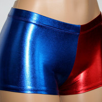 Harley Quinn Suicide Squad Inspired Cosplay REGULAR LENGTH Mid-Rise Booty Shorts!!
