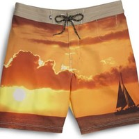 Sperry Top-Sider Sailboat Photo Board Short SunsetSailboat, Size 30  Men's