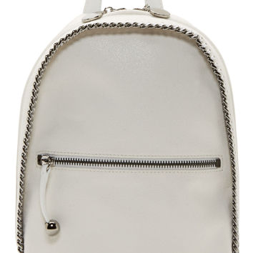 Stella Mccartney White Chain-trimmed Mini Fallabella Backpack