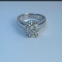2.01ct F-VS2 Round Diamond Engagement Ring EGL Certified JEWELFORME BLUE