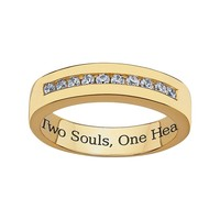 Sweet Sentiments 18k Gold Over Sterling Silver Cubic Zirconia Wedding Ring (White)