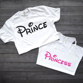 Disney Prince and Princess Couple's Shirts