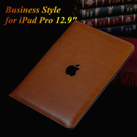 Business Style Luxury Flip PU Leather Case for iPad Pro Fashion Slim Thin Smart Book Cover Tablet Stand Case for iPad Pro 12.9""