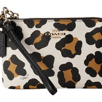 COACH Ocelot Embossed Txt Leather Small L-Zip Wristlet Light/White Multicolor - Zappos.com Free Shipping BOTH Ways