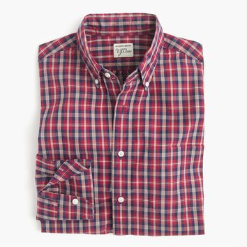 Slim Secret Wash shirt in chimney tartan