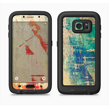 The Grunge Multicolor Textured Surface Full Body Samsung Galaxy S6 LifeProof Fre Case Skin Kit