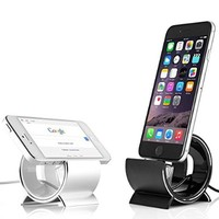 Sinjimoru ALUMINUM for all iPhone 6, 5, 4, 3G, 3GS, iPad Mini and iPod Sync Stand Dock Cradle Holder (Silver)