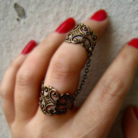connected vintage filigree rings by alapopjewelry