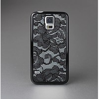The Black Lace Texture Skin-Sert Case for the Samsung Galaxy S5