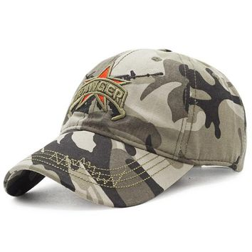 Sports Hat Cap trendy  New Camo Baseball Cap Men US Army RANGER Tactical Snapback Hat Cotton Dad Bone Outdoor Camouflage  Casquette Cap KO_16_1