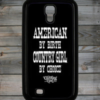 Country Girl ® American By Birth White Galaxy S4 Phone Case/Cover