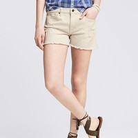 Banana Republic Womens Raw Hem Natural Jean Short