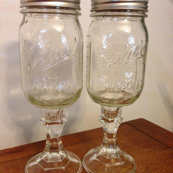 Redneck Wine Glasses Set of Two  by owlLO on Etsy
