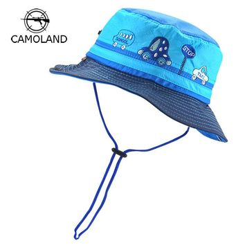Adjustable Sun Hat Kids Bucket Hat Quick Dry Summer Fishing Cartoon Cap Boy Girl Panama Children Hat Infant Beach hat Outdoors